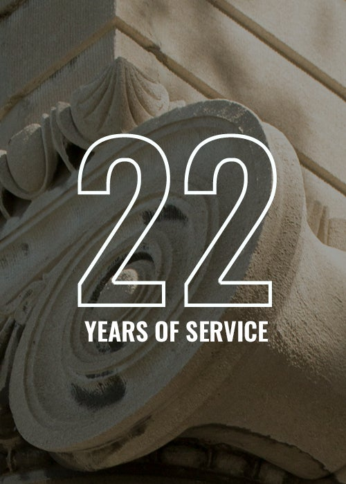 22 years of service